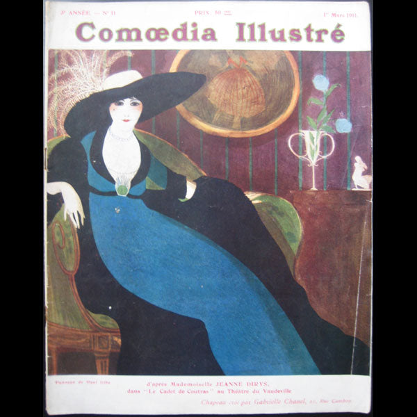Comoedia Illustré (1er mars 1911), couverture de Paul Iribe
