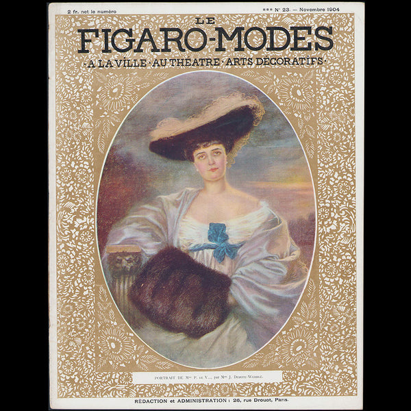 Figaro-Modes, November 1904, cover by Juliette Dubufe-Wehrlé