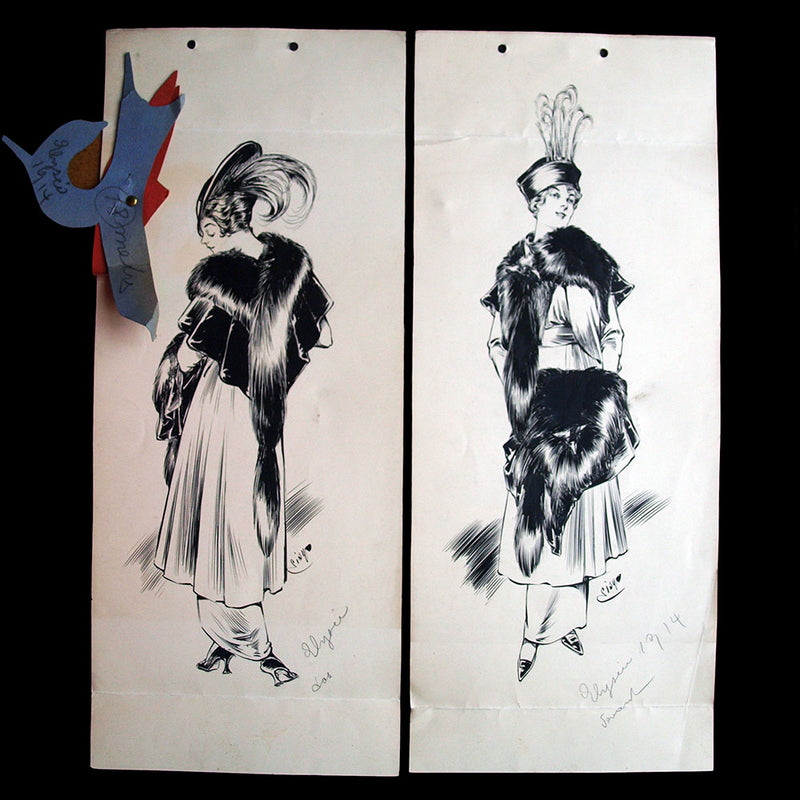 Couple d'élégants au bar - Dessin de Guy Sabran (circa 1935)