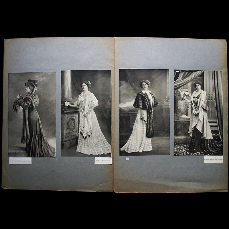 Fourrures Max - Réunion de 20 photographies d'actrices (circa 1907-1908)