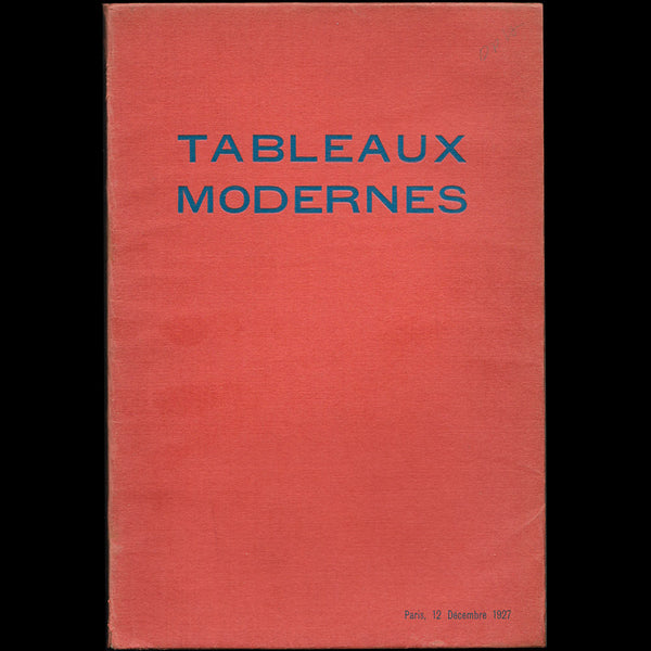 André Groult - Tableaux Modernes, catalogue de la vente de la collection de M. André G. (1927)