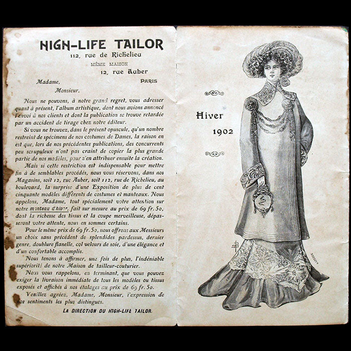 High Life Tailor - Catalogue de l'hiver 1902 illustré par Fernand Fernel