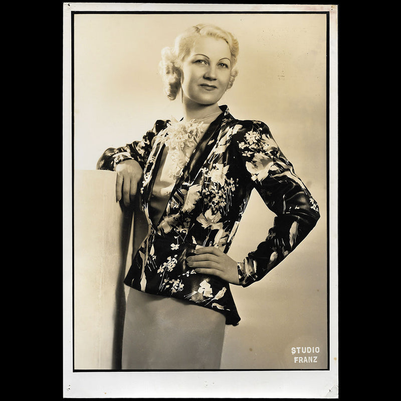 Marcelle Landowska - Ensemble porté par Miss Paris 1935, tirage du Studio Franz