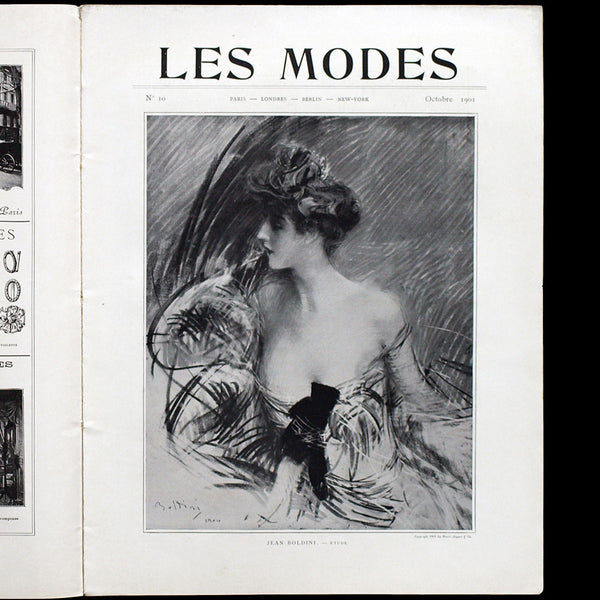 Les Modes (octobre 1901), couverture de Gainsborough