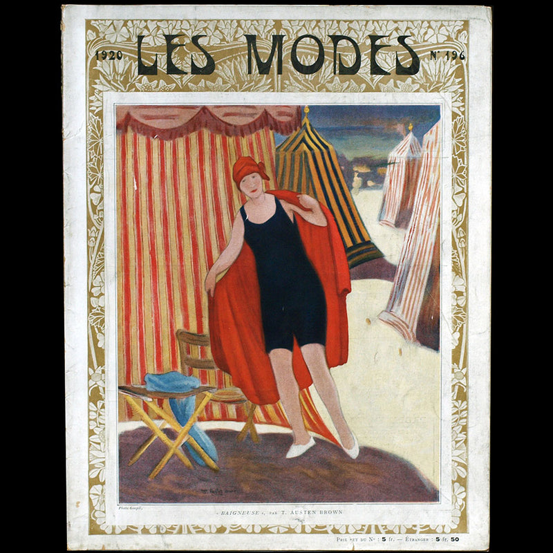 Les Modes, n° 196, couverture de Thomas Austen Brown (1920)