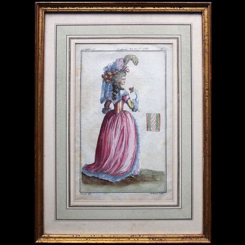 Basset - Robe à la Diane, 3ème cahier de la Collection d'habillements modernes et galants (1780)