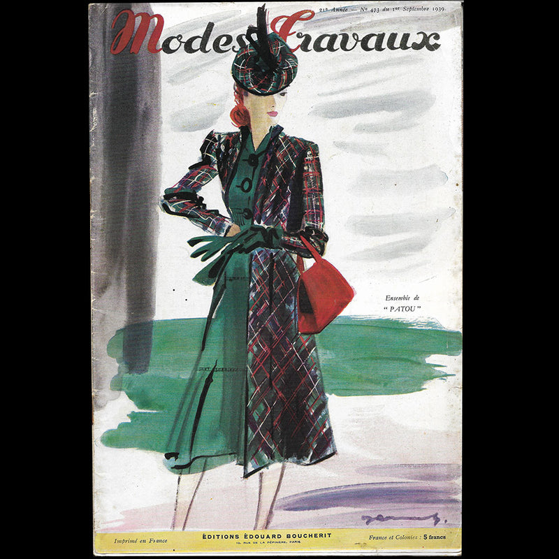 Vogue France (1er février 1937), couverture d'Eric