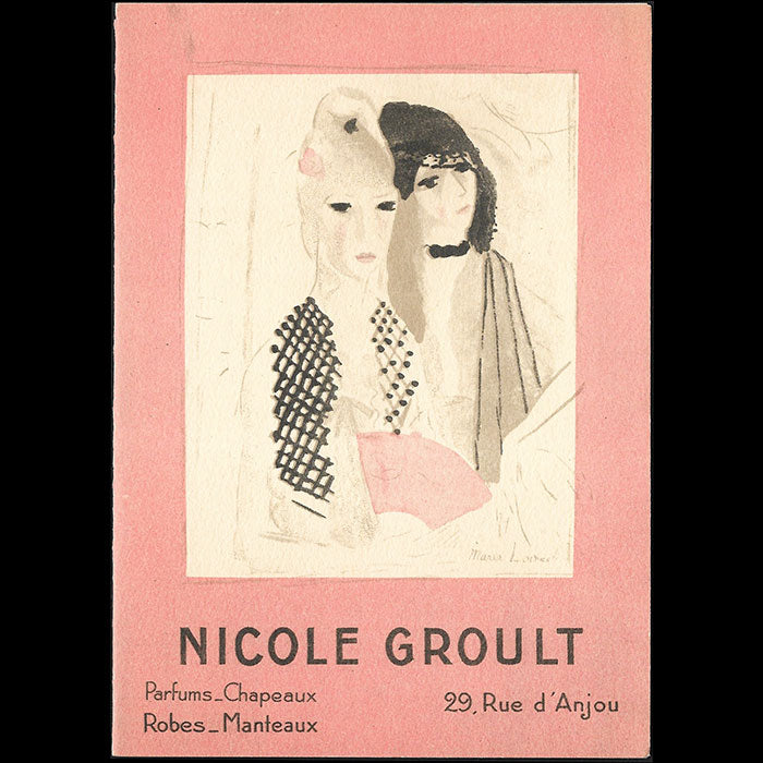 Nicole Groult - Invitation illustrée par Marie Laurencin (1930)