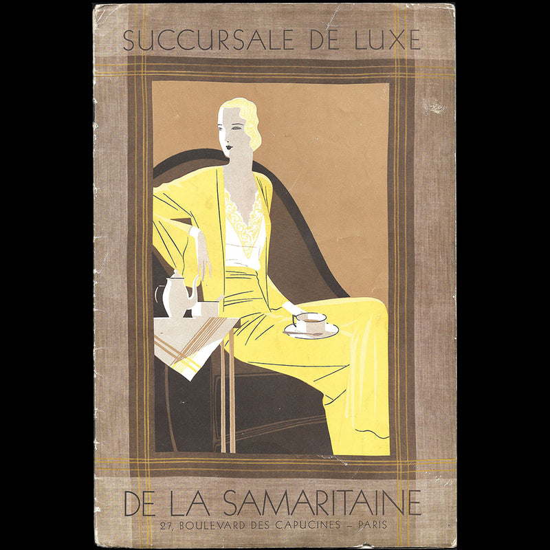 L. Rouff - carte d'invitation de la maison de couture, 8 rue Royale à Paris (circa 1910-1920)