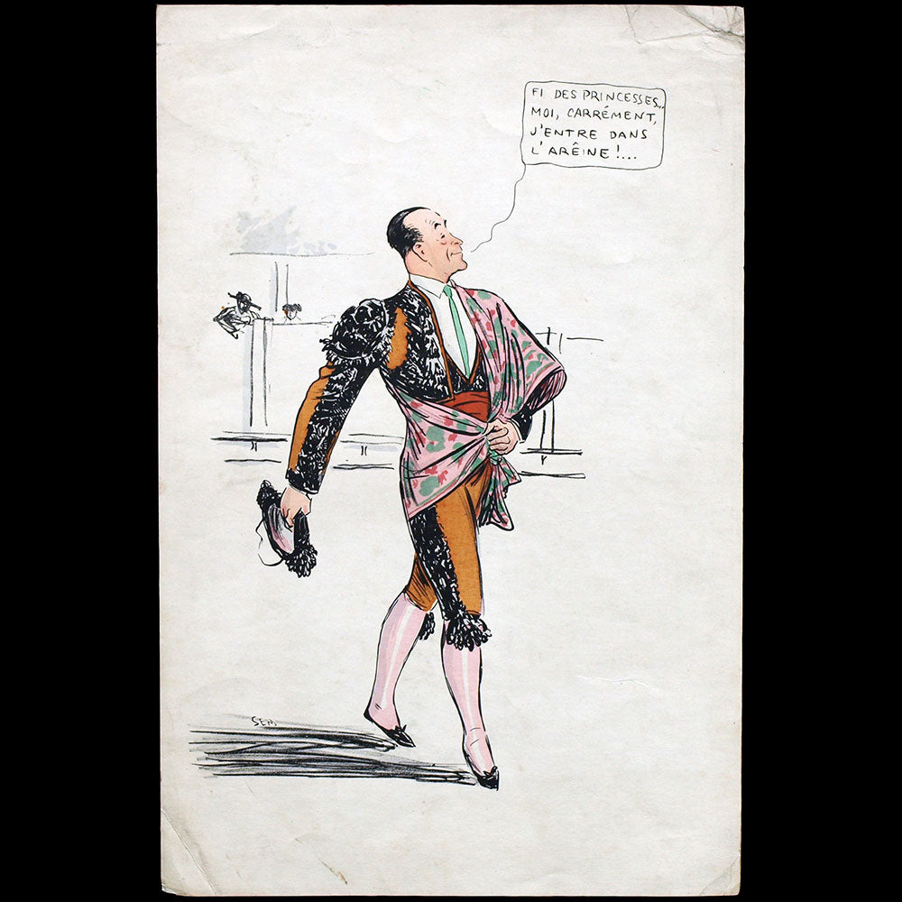 Jean Patou - caricature de SEM pour l'album White Bottoms (1927)