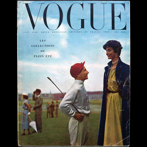 Vogue France (juin 1950), couverture de Robert Randall