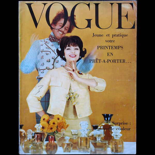 Vogue France (1er février 1959), couverture de Henry Clarke