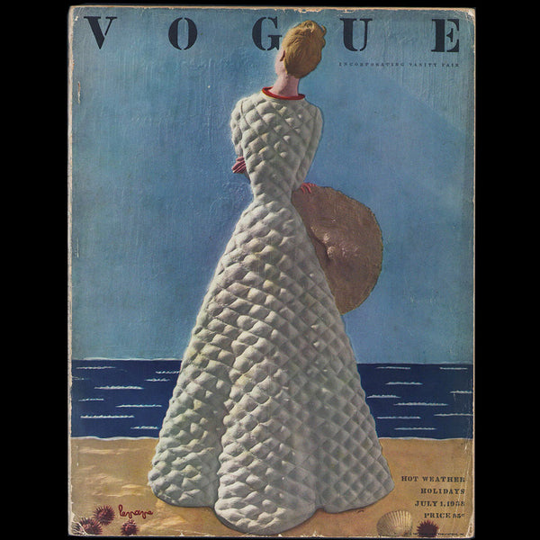 Vogue US (1er julllet 1938), couverture de Georges Lepape