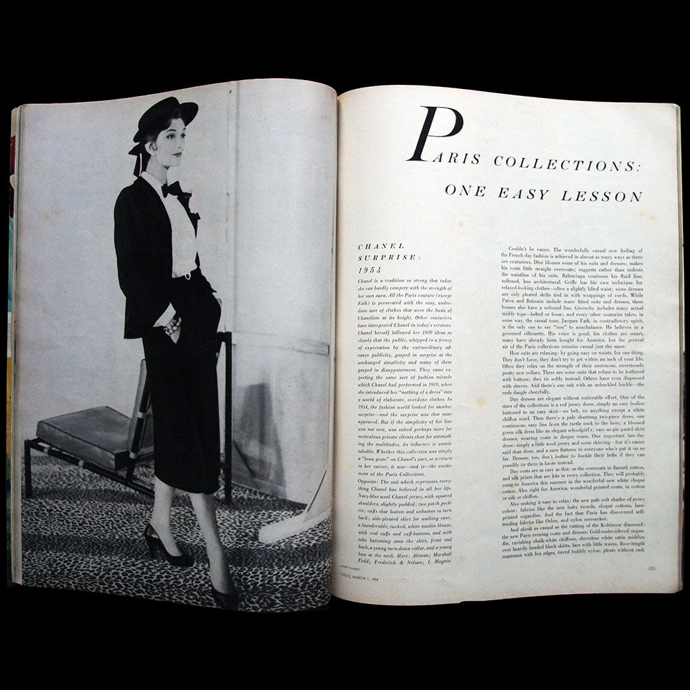 Vogue US (1er mars 1954), couverture de Rutledge