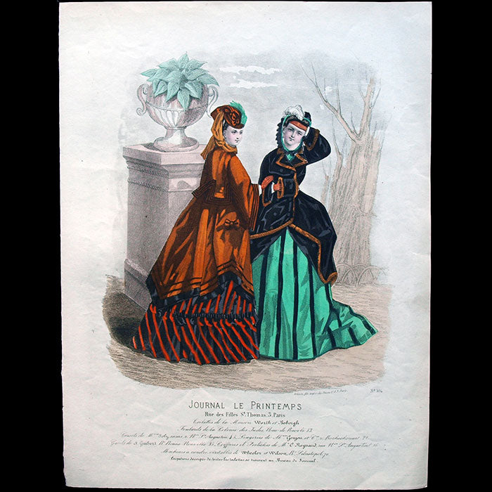 Worth & Bobergh - Le Journal Le Printemps, gravure 104 (circa 1867-1870)
