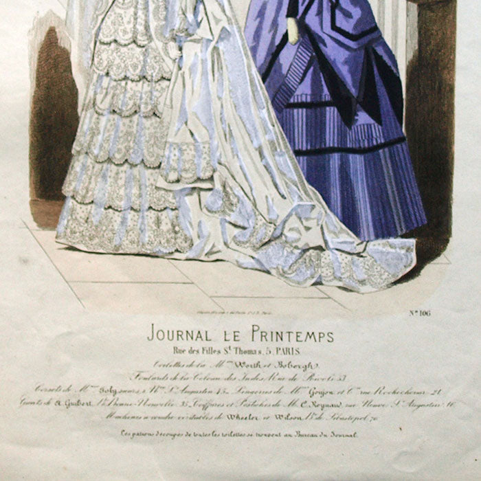 Worth & Bobergh - Le Journal Le Printemps, gravure 106 (circa 1867-1870)