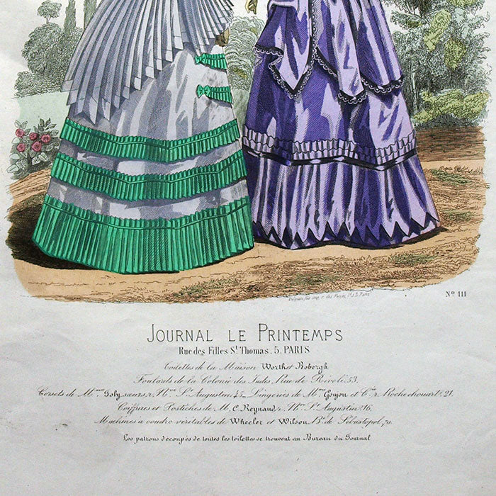 Worth & Bobergh - Le Journal Le Printemps, gravure 111 (circa 1867-1870)