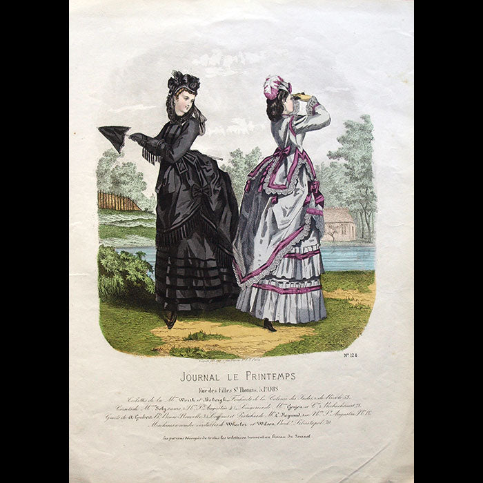 Worth & Bobergh - Le Journal Le Printemps, gravure 124 (circa 1867-1870)