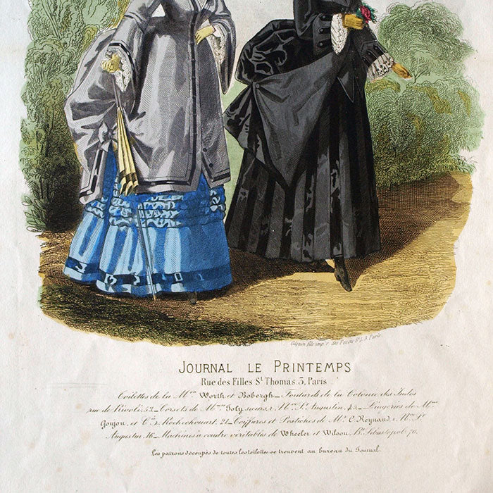 Worth & Bobergh - Le Journal Le Printemps, gravure (circa 1867-1870)