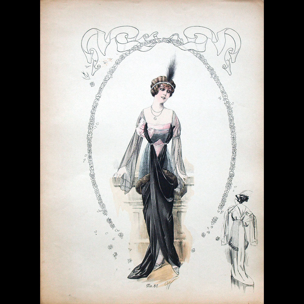 Worth - Ensemble de 7 gravures (circa 1910)
