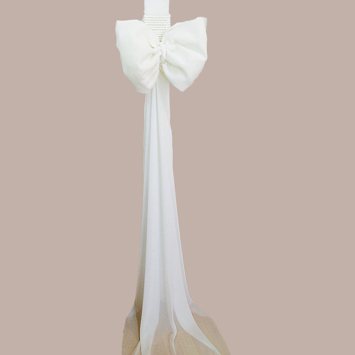 Georgette-bow-handmade-orthodox-wedding-candle