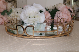 Rounded Gold European-Styled Stefana Tray