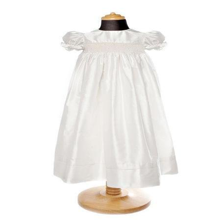 Silk Smock long traditional christening gown