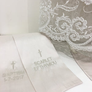 Personalised Catholic Baptism Christening Silk Stole (Sash)