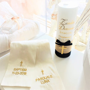 Catholic Christening Baptism Candle for Boy