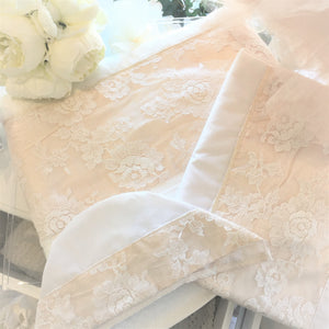 Floral Cotton Lace Greek Orthodox Christening Content