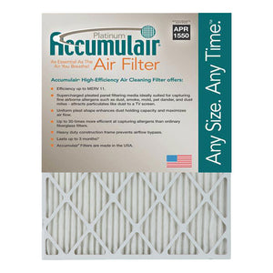Accumulair MERV 11 Platinum 1-Inch HVAC Furnace Filter, 4 Pack