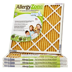 "AllergyZone Allergen Removing 1"" HVAC Furnace Air Filter, 4 Pack"