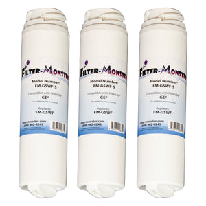Filter-Monster Replacement for GE GSWF Refrigerator Water Filter, Three Pack