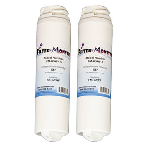 Filter-Monster Replacement for GE GSWF Refrigerator Water Filter, Two Pack