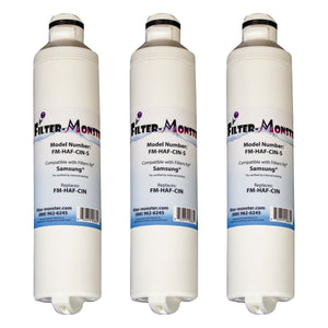 Filter-Monster Replacement for Samsung DA29-00020B Refrigerator Water Filter FM-HAF-CIN, Three Pack