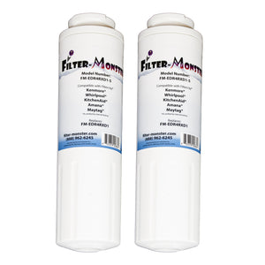 Filter-Monster Replacement for Whirlpool EDR4RXD1 Refrigerator Water Filter FM-EDR4RXD1, Two Pack