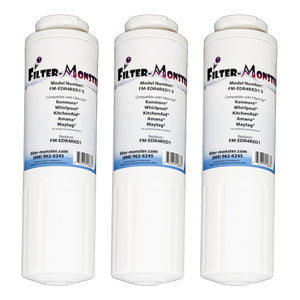 Filter-Monster Replacement for Whirlpool EDR4RXD1 Refrigerator Water Filter FM-EDR4RXD1, Three Pack
