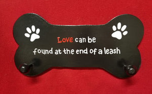 Love can be found at the end of a leash