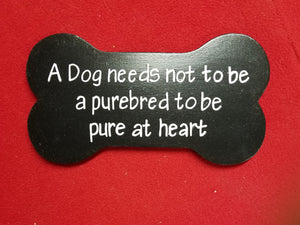 A dog breed needs not to be a purebred to be pure at heart