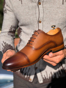 Marc Classic Tan Leather Shoes