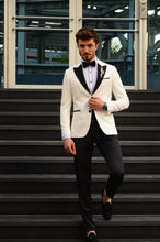 Load image into Gallery viewer, Capstone Ecru Slim Fit Tuxedo
