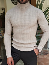 Load image into Gallery viewer, Erie Slim Fit Patterned Turtleneck (In 2 Different Colors)