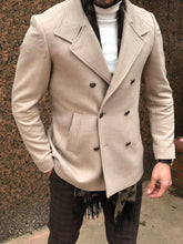 Load image into Gallery viewer, New Look Double Breasted Beige Coat