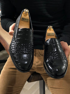 Luxe Sardinelli Black Limited Edition Leather Shoes
