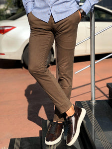Marc Brown Slim Fit Cotton Pants