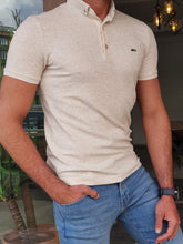 Load image into Gallery viewer, Jason Slim Fit Beige Polo Tees