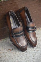 Load image into Gallery viewer, Sardinelli Double Buckle Detailed Brown Shoes