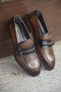 Sardinelli Double Buckle Detailed Brown Shoes