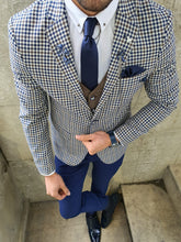 Load image into Gallery viewer, Lance Slim Fit Check Navy Suit