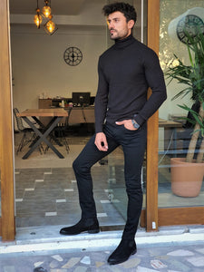 Erie Slim Fit Patterned Turtleneck (In 2 Different Colors)